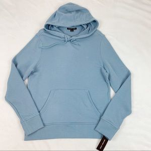 Michael Kors light blue hooded pullover sweatshirt